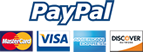 We Accept All Major Credit Cards and PayPal